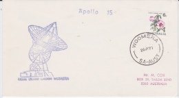 Australia-1971 Apollo 15 Tracking Flight Woomera Cover - 1966-79 Elizabeth II