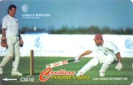 CAYMAN ISL.(GPT) PHONECARD CRICKET CN:224CCIA-1/97 -USED(1) - Cayman Islands