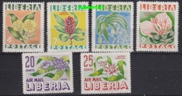 Liberia 1955 Flowers 5v * Mh (mint, Hinged) (21219) - Liberia