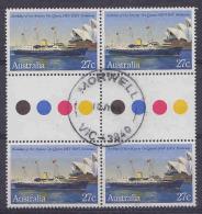 Australia 1983 Birthday Queen Elizabeth 1v 2x Gutter Used Morwell (21219) - 1980-89 Elizabeth II