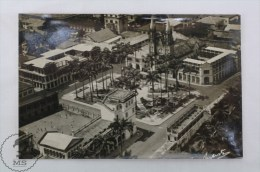 Old Guinea Real Photo Postcard - Plaza España, Palacio Episcopal - Sta. Isabel - Provincia De Fernando Pó / Bioko - Guinea