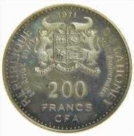 DAHOMEY - REPUBLIQUE Du DAHOMEY - 200 FRANCS CFA (1971) - Indipendence / SILVER COIN 999,9 - Monete