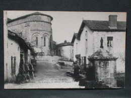 Ref4118 JU CPA Animée De Blond (Limousin) - La Fontaine St Martin Et L'église - 1922 - Le Dorat