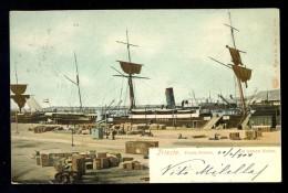 Trieste Porto Nuovo Im Neuen Hafen. / G. Ruger&Co., 8229 / Year 1904 / Old Postcard Circulated - Trieste (Triest)