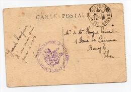 Cachet Franchise Militaire 64 ème Régiment Artillerie Afrique Casablanca à Bourges - Militaria