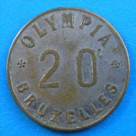 Brussels Bruxelles Olympia 20 Centimes - Monétaires / De Nécessité