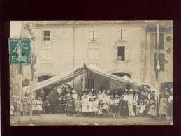 09 Carte Photo Postée De Foix Un Jour De Fête Devant Un Café , En 1909 - Foix