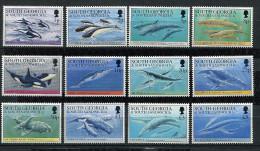 (cl.28 - P14) Georgie Du Sud ** N° 235 à 246 (ref. Michel Au Dos) -  Baleines Et Dauphins - - Géorgie Du Sud