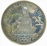 HAITI - REPUBLIQUE D' HAITI - 50 GOURDES (1974) / 1976 OLYMPICS GAMES - SILVER COIN (925 %) - Haiti