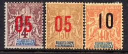 GUADELOUPE - N° 72/74* - TYPE GROUPE - Ungebraucht