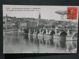 """Ref4135 JU CPA De St Cloud (Ile De France) - Dirigeable Militaire """" Liberté """" Au Dessus De St Cloud N°3758 - 1911 - Aeronaves"""