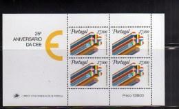 PORTOGALLO PORTUGAL 1982 EUROPA CEE 25th ANNIVERSARY 25° ANNIVERSARIO BLOCK SHEET BLOCCO FOGLIETTO BLOC FEUILLET MNH - Blocks & Kleinbögen