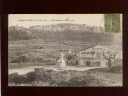 13 Roquefort Monument Villeneuve Pas D'éditeur Devant Le Café Restaurant - Autres Communes
