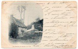 Avranches : Le Chemin Qui Monte à La Ville (carte Oblitérée De 1900)