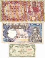 WORLD COLLECTION 20 1000 10000 ANGOLA HUNGARY PHILIPPINES Lot 3 Pcs See Scan - Bankbiljetten