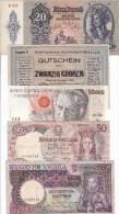 WORLD COLLECTION 20 50 500 50000 AUSTRIA ANGOLA BRAZIL HUNGARY PORTUGAL Lot 5 Pcs - Bankbiljetten