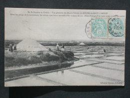 Ref4150 JU CPA Animée Marais Salants Du Bourg De Batz à Saillé - Coll. Delaveau - 1905 Saumaison Salines Mulons De Sel - Guérande