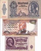 WORLD COLLECTION 20 25 100 ANGOLA Hungary USSR Escudos Pengo Roubles LOT Scan - Bankbiljetten