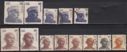 Difinitive Used Stamps Of India. Gandhi & Nehru Series, 1976, 1978, 1980, 1983, 1988, 1991, (Sample Image) - Oblitérés