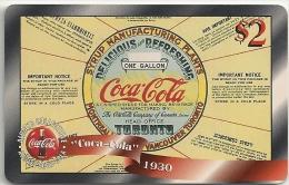 USA - Sprint - Remote Mem. Coca Cola 1930 2$ Year Poster, Mint Unscratched - Vereinigte Staaten