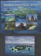 PALAU , 2015, MNH, UNESCO WORLD HERITAGE SITES, BARRIER REEF, TEMPLES, MOUNTAINS, KOMODO PARK, LAGOONS,  SLT+S/S - Aardrijkskunde