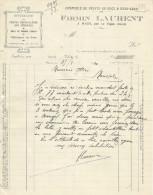 COURRIER FIRMIN LAURENT à MARS Par LE VIGAN à NIMES (GARD) 1926 - France