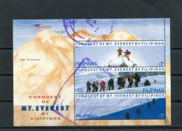 PHILIPPINES 2006 CONQUEST OF THE MOUNT EVEREST SHEET CTO. - Klimmen