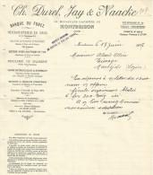 COURRIER CH. DUREL, JAY & NAACKE HERBORISTERIE à MONTBRISON (LOIRE) 1927 - 1900 – 1949