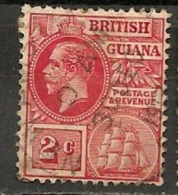 Timbres - Grande-Bretagne (ex-colonies Et Protectorats) - Guyane Britannique - 1913/21 - 2 Cents  - - British Guiana (...-1966)
