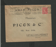 Enveloppe  AMER PICON Metz Pour Levallois-Perret - Postmark Collection (Covers)