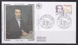 Bicentenaire Naissance René Caillé Enveloppe 1er Jour Mauzé Sur Le Mignon 26.06.99 N°3257 Portrait De L'Explorateur - FDC