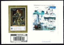 Carta Per Canada  Hojitas «Al Filo De La Impossible 2007» Y  Pinturas «Emission Conjunta España - 1931-Hoy: 2ª República - ... Juan Carlos I