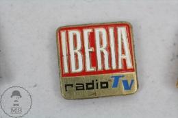 Vintage Iberia Radio TV - Pin Badge #PLS - Medios De Comunicación