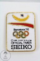 Olympic Games Barcelona 1992 - Seiko Official Timer - Pin Badges #PLS - Juegos Olímpicos