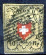Svizzera-002 - 1850 - Y&T: N. 15 (o) - Privo Di Difetti Occulti. - 1843-1852 Poste Federali E Cantonali