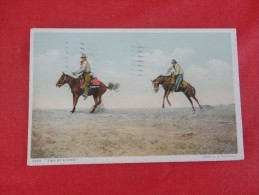 Cowboys Horses Two Of A Kind Detroit Publishing -  Ref 1789 - Postcards