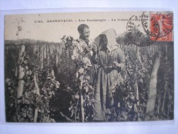 95 - CPA - ARGENTEUIL - Les Vendanges - La Bonne Grappe - SUPERBE Carte Animée Peu Commune - Argenteuil