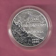 KROATIE 100 KUNA 1995 ZILVER PROOF 5e VERJ.ONAFHANKELIJKHEID KM27 SCARCE - Croatie