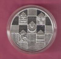 KROATIE 150 KUNA 1995 ZILVER PROOF 5e VERJ.ONAFHANKELIJKHEID KM28 SCARCE - Croatie