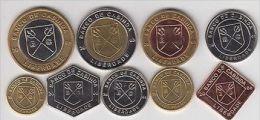 CABINDA Set 10pcs 2001-06, 3 Bimetals, Animals, Unusual Coinage - Monete