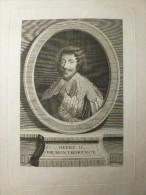 GRAVURE HENRY II DE MONTMORENCY Sculpteur TARDIEU Pierre Alex - Stiche & Gravuren