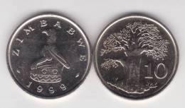Zimbabwe 10 Céntimos 1.999 Cu Ni KM#3 SC/UNC        T-DL-10.317 - Zimbabwe