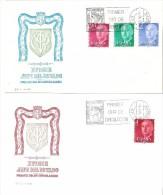 2 Carta De Primer Dia  Serie Nº 2225/8  Franco - FDC