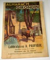 ALMANACH GIRONDIN 1940 - Livres, BD, Revues