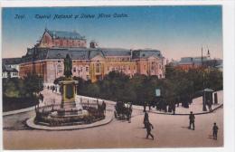 Romania - Iasi - Teatrul National Si Statuia Miron Costin - Romania