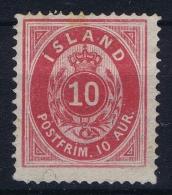 Iceland: 1876 Mi Nr 8 A  Not Used (*)  Perfo 14 : 13,5 - Unused Stamps