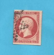 FRANCE N° 17A (o) (YT) 80 C. CARMIN NAPOLEON III ND 3 BELLES MARGES, 1 COTE TOUCHE - 1853-1860 Napoléon III