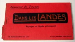 Carnet De 12 Cartes Postales Anciennes LES LANDES - France