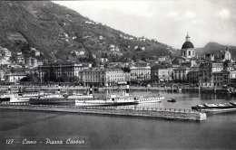 COMO - Piazza Cavour, Dampfschiffe, Fotokarte Um 1943 - Como