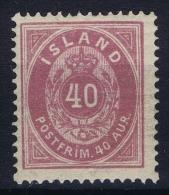 Iceland: 1882 Mi Nr 15 A Perfo 14 : 13,50 MNH/** Light Gumm Imperfections - Neufs